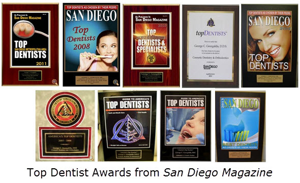 Top Dentist Awards from San Diego Magazine
