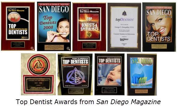 Top Dentist Awards from San Diego Magazine