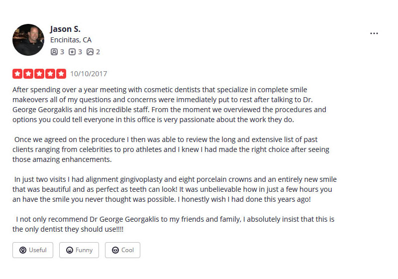 Dr George's Yelp Reviews