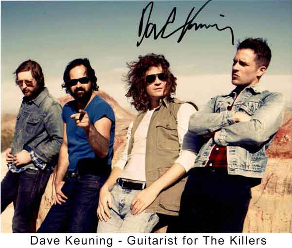 Dave Keuning Guitarist for The Killerss band