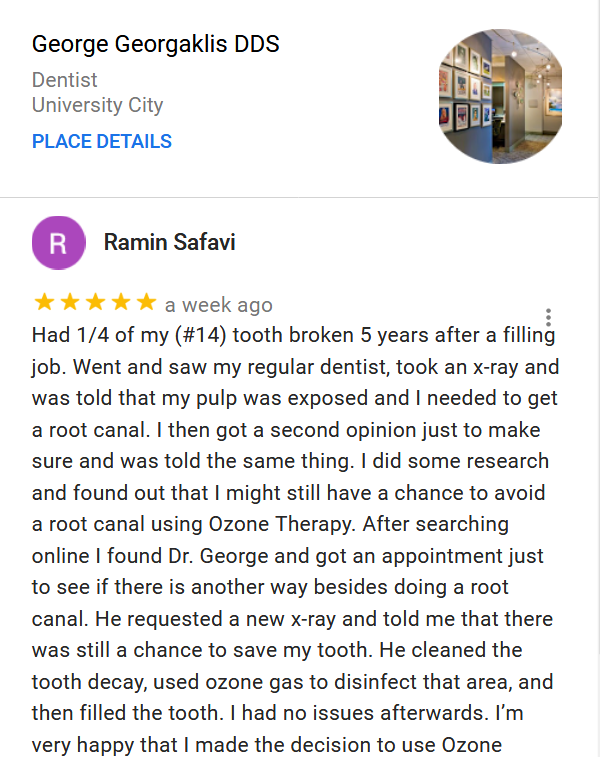 Ramin Safavi Ozone Therapy Review
